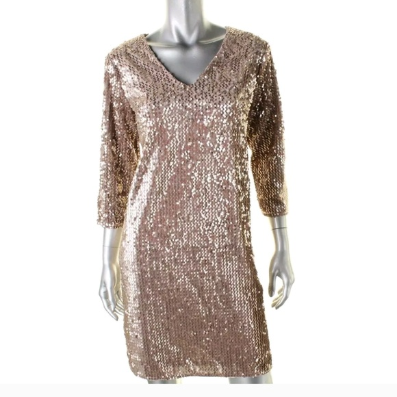 912525ab Alfani Dresses   Velvet Sequin Dress Size 10   Poshmark